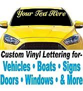 "1060 Graphics 4"" high Vinyl Lettering - for Car, Truck, Boat, Sign, Door, Window, Banner, Windshi..."