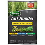 Scotts Turf Builder Triple Action provides three benefits in one bag; it kills weeds, including dandelions and clover, prevents future weeds like crabgrass and other grassy weeds, all while feeding and strengthening your lawn. Prevents crabgrass for ...