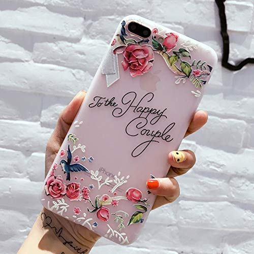 GOONEE Fitted Cases - Flower Silicon Phone Case for iPhone 7 8 Plus Xs Max Xr Rose Floral Cases for iPhone X 8 7 6 6s Plus 5 Soft TPU Cover - for iPhone Xs Max_5618 - Deocration Z Crown Clip D