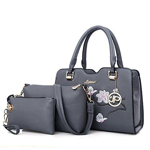 Aoligei Laptop Bag Casual Bag Woman Woman Woman Oblique Useful Bag Three-piece Kit Stuffed Bread B