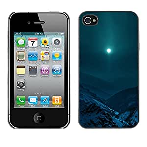 FU-Orionis Colorful Printed Hard Protective Back Case Cover Shell Skin for iPhone 4 / 4S - Moon Mountain