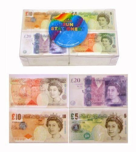 12 x UK Pound Novelty Erasers