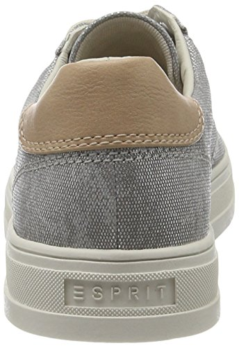 Esprit Sidney Lace Up Damen Sneakers Silber (argento 090)