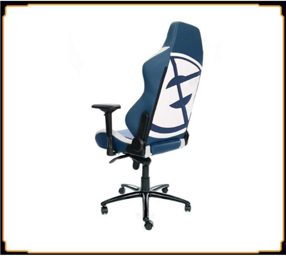 Hexiao Chaise de Bureau Jeu Chaise réglable Haut, 360 degrés de Rotation Rotating de Levage en Cuir en Alliage d\'aluminium Pieds-M Accoudoirs xiao1230 (Color : S) M