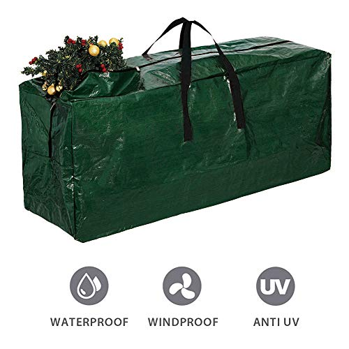 Skypatio 65Inch Extra Large Christmas Tree Bag, Fits up to 9ft Tall Artificial Disaseembled Trees,Xmas Storage Bag Container with Durable Handles & Dual Zipper,Waterproof,Green