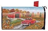 Briarwood Lane Autumn Bridge Large Mailbox Cover Fall Pickup Truck Oversized