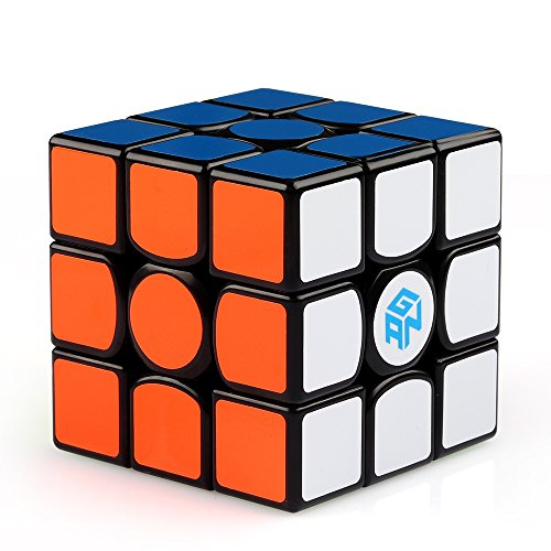 Price comparison product image Coogam Gan 356 Air Master Speed Cube 3x3 Black Gans 356 Air Puzzle Cube with New Blue Cores (Master Version)