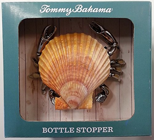 Tommy Bahama Bottle Stopper - Crab, real Sea Shell