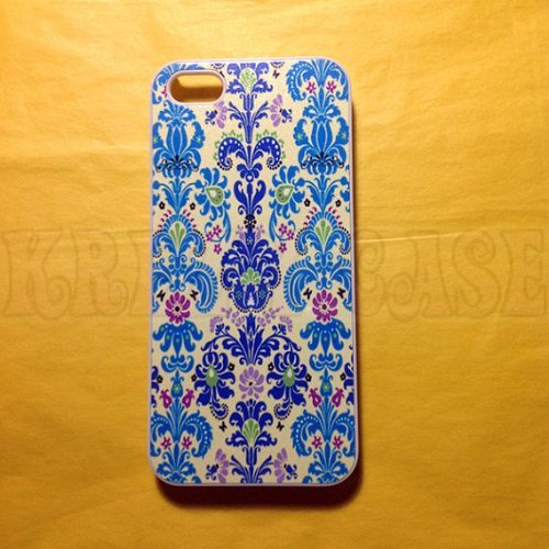 Krezy Case iPhone 6 case, iPhone 6 Case, Blue and Light Blue Damask iPhone 6 Cover, iPhone 6 Cases, iPhone 6 Case...
