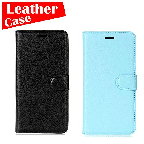 Apple iPhone 8, 2 Pack case [Black+Blue] [eBuyLife] Phone Case, Flip Leather Wallet Slim Folio Cover Credit Card Slots Cash Clip Stand Holder Magnetic - Cover Charge Liv