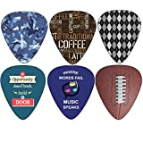 Creanoso Hero Guitar Picks (12-Pack) - Medium Celluloid - Unique Music Gifts - Assorted Cool Picks Guitar Picks
