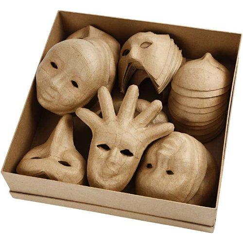 Creativ Papier Mache Venetian Face Mask Assortment 60 Assorted Bulk Buy 6 Designs 26713