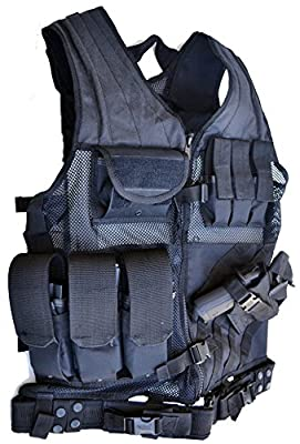 EXPLORER Tactical Law Enforcement Swat Special Forces Combat Tactical Vest (Black)