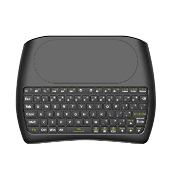 Festnight 2.4 GHz Mini Teclado inalámbrico Pantalla Completa Mouse Touchpad Control Remoto de Mano con retroiluminación LED de Colores para Android TV Box ...