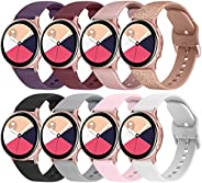 8 Pack Bands for Samsung Galaxy Watch Active 2 40mm 44mm & Active 40mm & Galaxy Watch 3 41mm & Gal