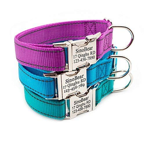 Personalized Dog Collar, Reflective Custom Dog Collar with Name Phone Number Adjustable Size (XS S M ()