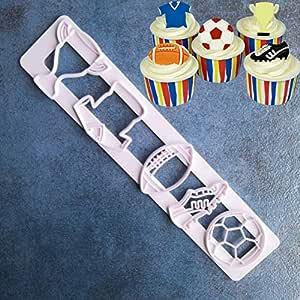 Laliva - 1 pieza de trofeo de fútbol de la Copa del Mundo de Fútbol Copa Polo Camisa DIY Fondant moldes cortadores de azúcar Craft moldes pastel postres decoración herramientas: Amazon.es: Hogar