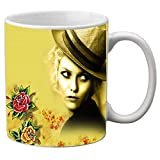 meSleep Girl Printed Ceramic Mug Red Kitchen Accessories Large Tea or Coffee Serveware Mug Mugs Gift Item