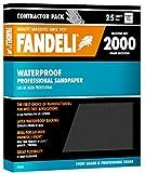 Fandeli 36008 2000 Grit Waterproof Sandpaper Sheets, 9''  x 11'', 25-Sheet