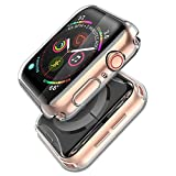 (2 Pack) Langboom Case for Apple Watch Series 4 40mm, Durable TPU Screen Protector, HD Clear Ultra-Slim Cover, Overall Protection Case Compatible with iwatch Series 4 40mm