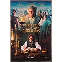 The Man Who Invented Christmas (2017) Original U.S. One-Sheet Movie Poster 27x40 CHRISTOPHER PLUMMER JONATHAN PRYCE DAN STEVENS Film about CHARLES DICKENS directed by BHARAT NALLURI