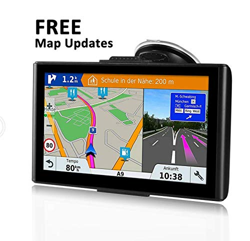 GPS Navigation for Car,7-inch 8GB HD GPS Navigator,Voice Broadcast Function, Driving Alarm,FM Transmission Function& Free Update Map
