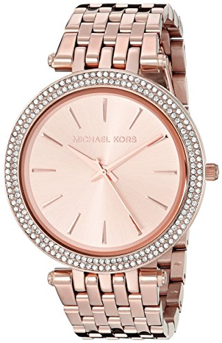 Michael Kors Womens Darci Rose Gold-Tone Watch MK3192