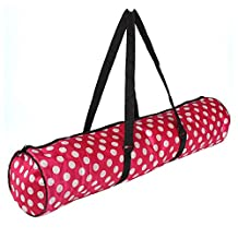 Baiyu Portable Yoga Mat Bag Sports Tote Bag Waterproof Carryall Carrier Backpack Zippered with Pocket Shoulder Strap Yoga Mat Fashion 23cm*72cm (Available in Black Pink Brown)