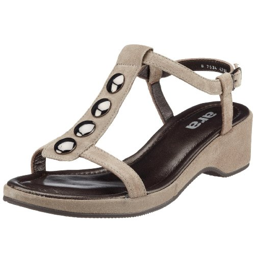 ara - Sandalias de vestir de ante para mujer Gris