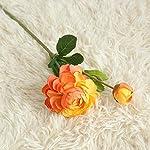 MARJON-FlowersArtificial-Flowers-Bouquet-Petals-Feel-and-Look-Like-Fresh-Western-Rose-Bridal-Wedding-BouquetPerfect-for-WeddingPartyHomeOffice-Dcor-DIY-Orange