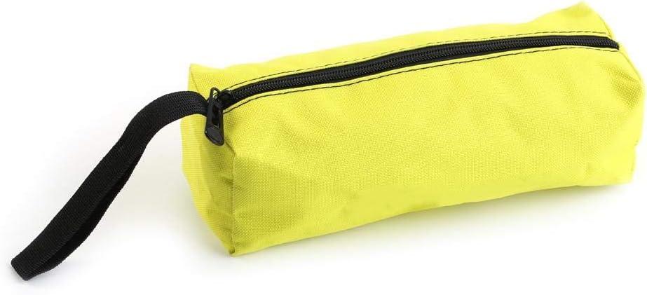 Bolsos peque/ños de lona con cremallera Army Green negro//verde del ej/ército//amarillo//azul claro bolsa de almacenamiento port/átil para herramientas de electricista