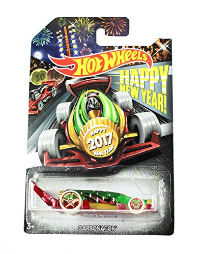 2017 Hot Wheels Happy New Year Green And Red Carbonator Bottle Opener Rare