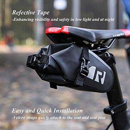 OUTON Wasserdicht Anal Satteltasche Fahrrad Tasche Regendicht Mountain Road MTB Sattel Tasche Radfahren unter Sitz Pack Bike Schwanz Tasche Fahrrad Reparatur, Pocket Pack