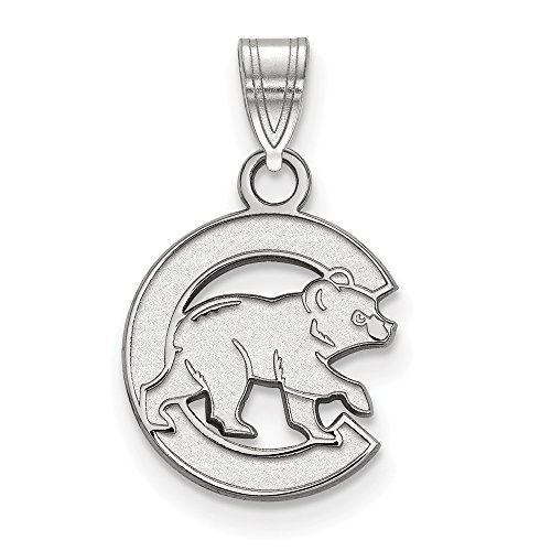MLB Chicago Cubs Sterling Silver MLB LogoArt Chicago Cubs Small Pendant Size One Size