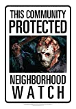 Aquarius Friday The 13th Jason Neighborhood Watch Tin Sign