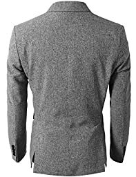 H2H Men Active Slim Fit Lightweight Single Breasted Cool Blazer GRAY US M/Asia XL (KMOBL0107)
