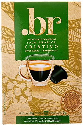 Cápsulas de Café Gourmet Criativo .br, Compatível com Nespresso, Contém 10 Cápsulas