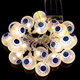 LED Photo Clip String Lights Home Decor Indoor/Outdoor, Battery Powered String Lights Lamp for Home/Party/Christmas Decoration Christmas Birthday Wedding Party Festival Decor (Warm White) (Eyeball)
