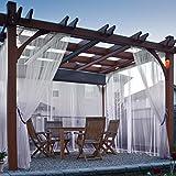 cololeaf Indoor Outdoor Gradient Ombre Sheer Curtain For Patio  Porch  Gazebo  Pergola   Cabana   dock  beach home  backyard  country  garden  wedding - Rod Pocket - Light Purple 52''W x 96''L (1 Panel)