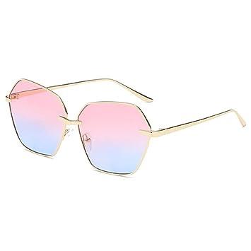 Aoligei Ozean Stück Sonnenbrille Dame Mode Polygon Sonnenbrillen uLBMKZ5