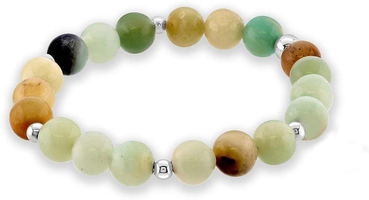 7 inch Gemstone Bracelet Amazonite Chip Bracelet Amazonite and Silver Bracelet