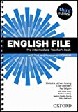 English File third edition: English File Pre-Intermediate: Teacher's Book &test CD Pack 3rd Edition - 9780194598750