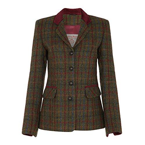 Ladies Harris Tweed Country Jacket, Red, 6