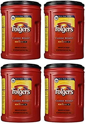 Folgers Coffee, Classic(Medium) XOVQla Roast, 48 Ounce, 4 Pack
