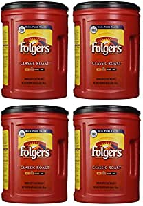 Folgers Coffee, Classic(Medium) mlwXAX Roast, 48 Ounce, 4 Pack