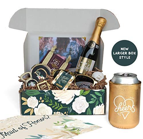 Personalized 'Be My Bridesmaid' Bridesmaid Proposal Box | Thank You Bridesmaid | Asking Bridesmaids | Custom Bridesmaid Box| Bridesmaid Thank You (Floral Design)
