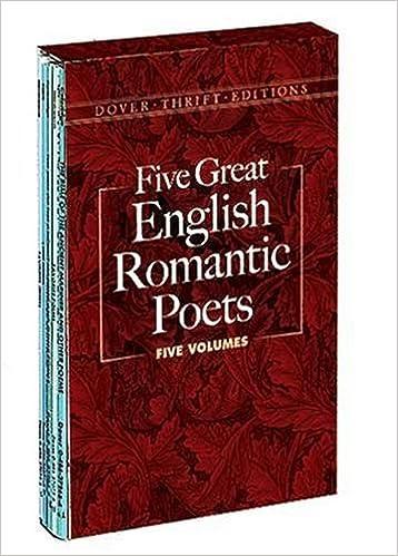 Five great english romantic poets