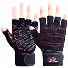 Unisex Black Pro Specialized Orienteering Treadmill Bicycle Horse Riding Photograph Camp Downhill Mtb BMX Fitness Motorbike Road Cycling Roller Skating Rock Climbing Leather Wrist Glove