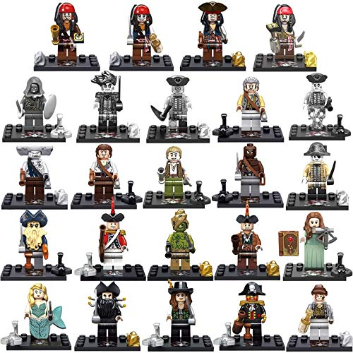 PampasSK Blocks - Kitoz Pirates of The Caribbean Figure Captain Jack Sparrow Salazar Hector Barbossa Building Block Toy Compatible with Lego 1 PCs -