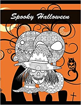 Amazon Fr Spooky Halloween Coloring Book For Adults Witch